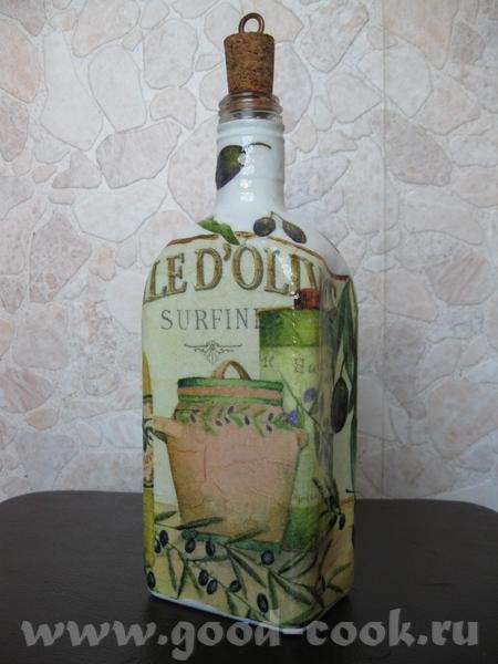 Пока в раздумьях по поводу натюрморта, от безделия раскрасила бутылку - 2