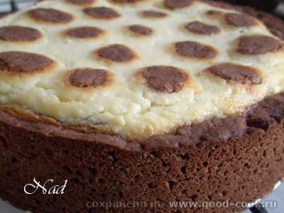 """ПИРОГ """"ЖИРАФ"""" от Пышный, высокий, нежный творожно-сметанно-шоколадный вкус Приятного аппетита"""