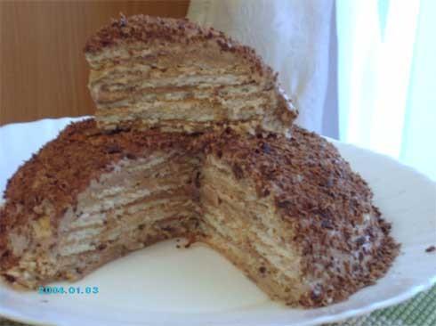 """, вот такой """"Похожий тортик"""" я сделала вчера вечером из печенья всего за 15 минут - 2"""