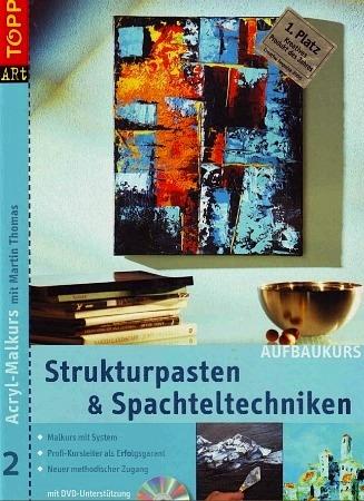 Три книжки по акрилу на немецком языке: абстракция, мастихин, моделирующие пасты, пошаговые уроки,... - 2