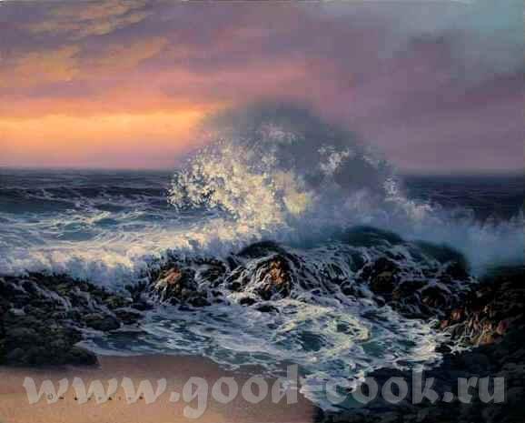 Вот так море рисует xудожник Walfrido Garcia A вот так xудожница Roy Tabora Mоре у Toucan Art