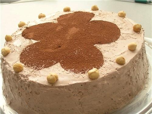 Коричный торт с шоколадом