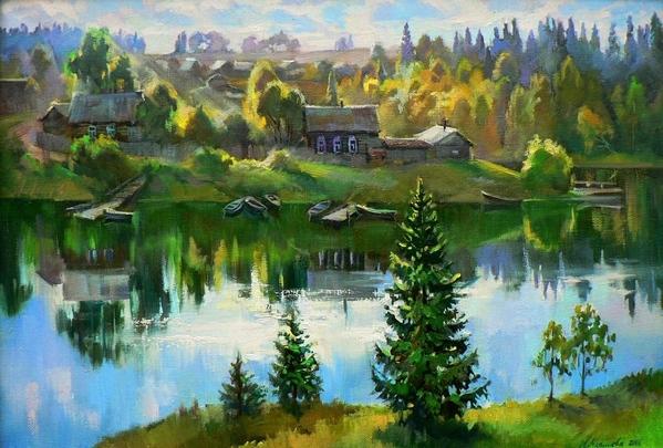 Вот ещё здесь посмотри Осенняя красота Любовь Малышева А журавли уже улетели Arthur Chartov Ве... - 8