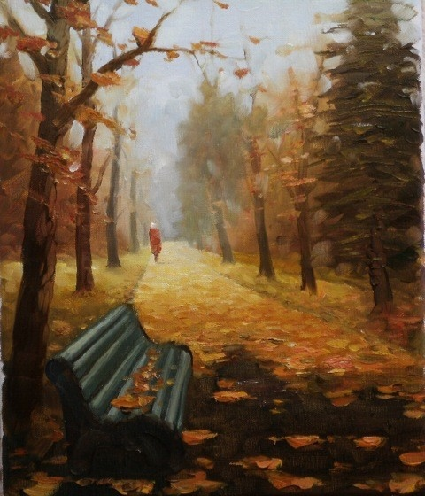 """Видео урок """" Осенний пейзаж"""" на НАРОДЕ ( на русском языке ) 1 2 3 4 5 6 7 8 9 10 11 Рису..."""