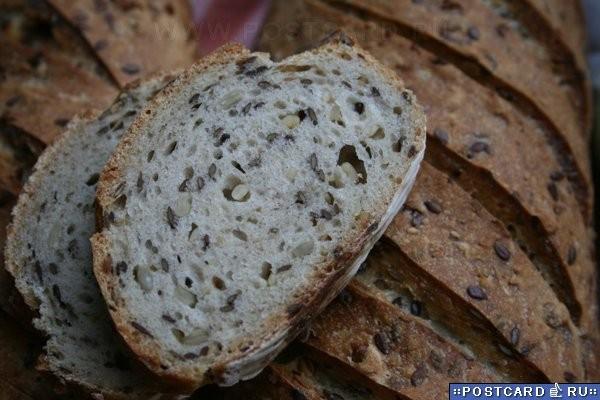 Зерновой хлеб на закваске Закваска (влажность 125% ): 40 г - 2