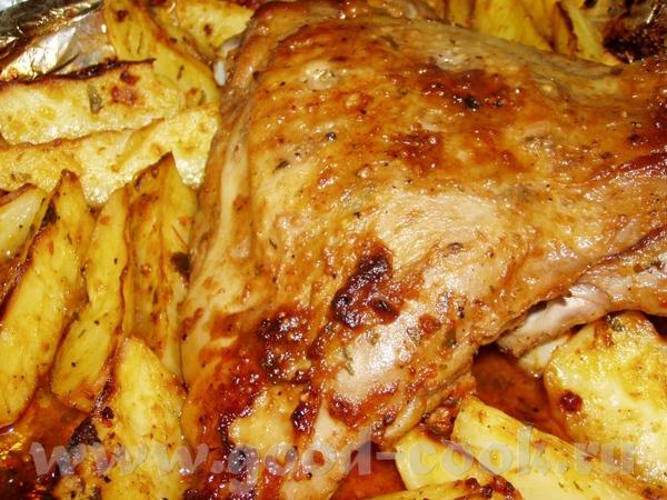 Запеченное бедро индюшки с картофелем Цыплята,фаршированные сердечками Крылышки-карри Иерусалимская...