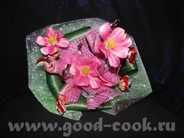 Нашла фото нескольких своих работ: Настольная композиция: Букетик для девочки-школьницы: Золотое де... - 2