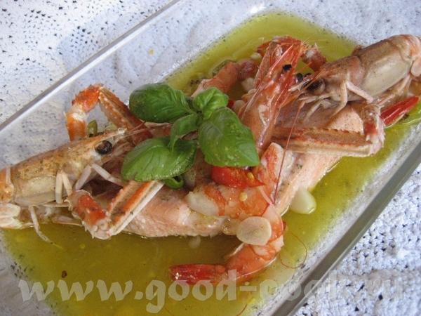 Влюблённый лосось Сначала делается соус, для этого в небольшом количестве кипящей воды отвариваются...