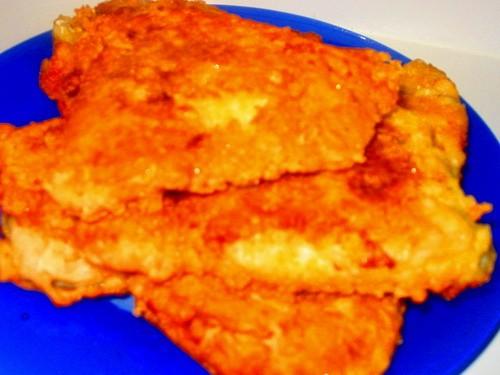 Куринная грудка фаршированная грибами с картофелем Жарила сайду в сырной корочке Еще были спагетти... - 2