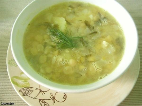 Гороховый суп с рисом Продукты три с половиной стакана сухого гороха 3-4 луковицы 1/3 стакана расти...