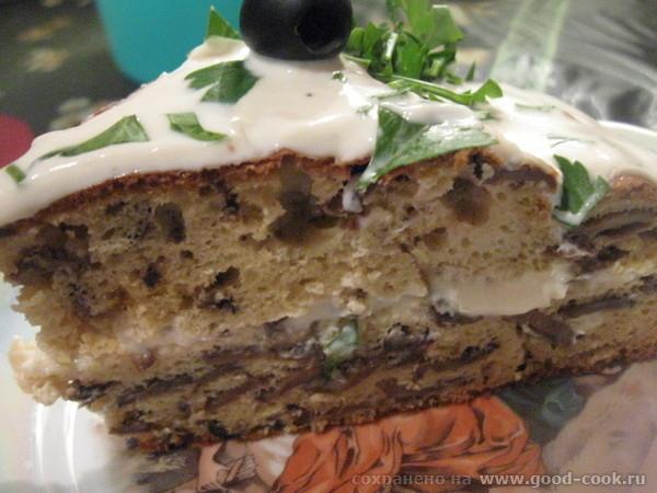 ЗАКУСОЧНЫЙ ГРИБНОЙ ТОРТ Очень вкусное грибное блюдо, которое может быть использовано, как закуска или же основное блюд...