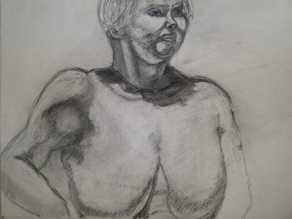 Ща я вам навалю своих рисунков Figure drawing типа надо было вписать в лист, чтобы фигура касалась... - 5