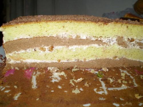 Торт Сметанно-ореховый Для теста: 5 яиц, 1 ст - 2