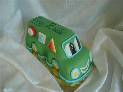 мне кажется белковый заварной подойдет торт мешок тут тоже все понятно ,веселый автобус ну и голубо... - 2