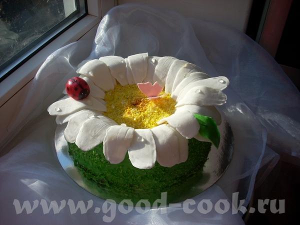 Такой вот простенький тортик,зато солнечный - 2
