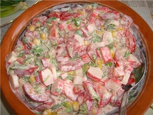 Приготовила сегодня салат Розовое облако от light225 а на ужин приготовила мой любимый МАМИН ФРУКТО...