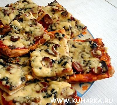 Сейчас сделала пиццу из хрущевского теста Мням