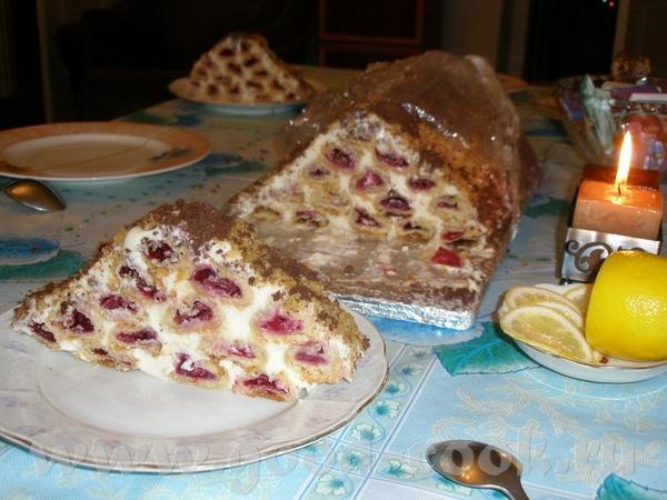 Вишнёвая избушка,получается большой торт