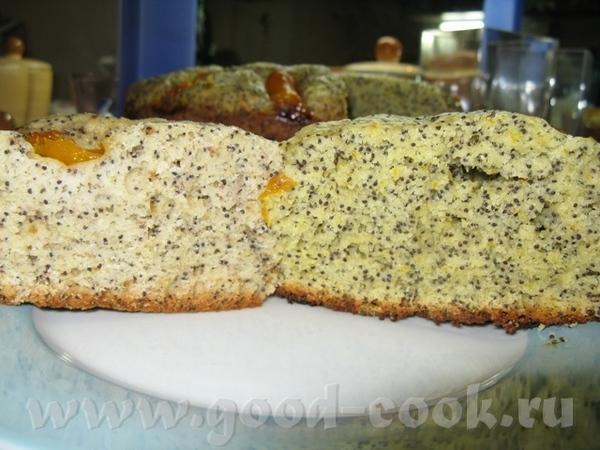 Банановый кекс с маком и абрикосами Вкусно, нежно, не очень сладко и ароматно, обязательно повторю... - 2