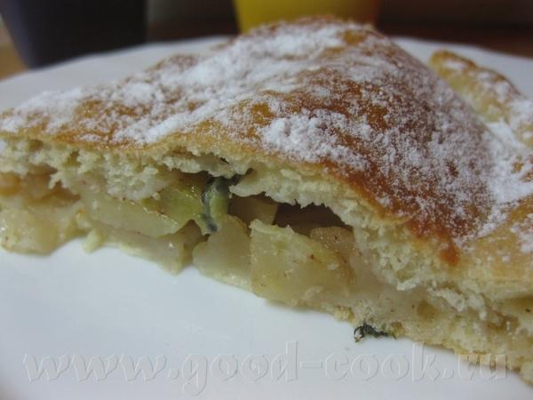 Пирог с яблоками и киви - 2