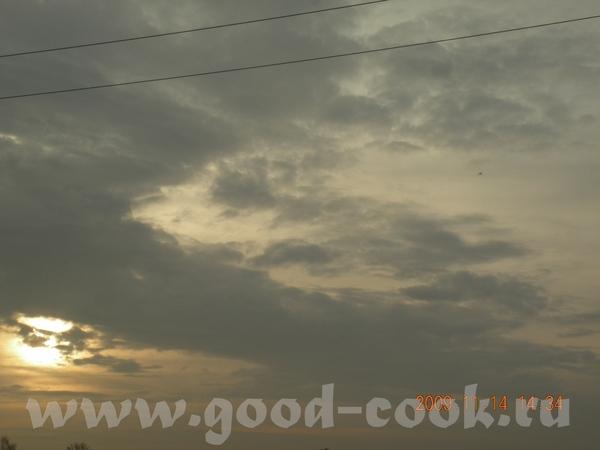 А вот еще облака, это днем было