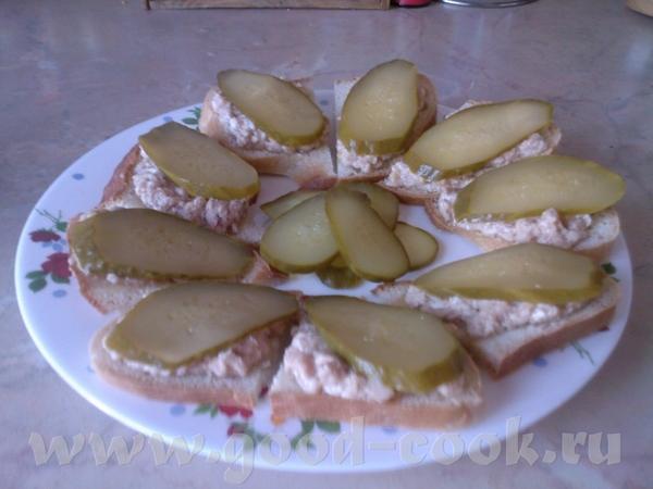 Бутерброды с печенью терески