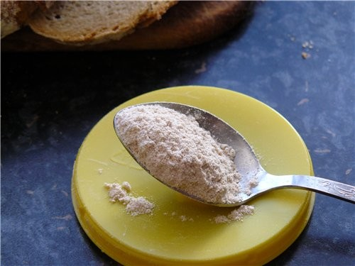 Хлеб пшенично-ржаной с сухой закваской на основе от Марины - fibi Для опары: 100 г ржаной муки 100... - 4
