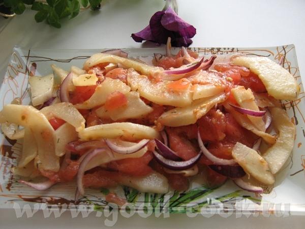 ''ТЕПЛЫЙ САЛАТ ИЗ КАБАЧКА С ПОМИДОРАМИ'' легкий приятный салатик 1 цукини 2 помидор...