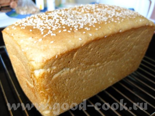 Хлеб на сметане по рецепту Очень вкусный и ароматный хлебушек, только я вместо мака посыпала кунжут...