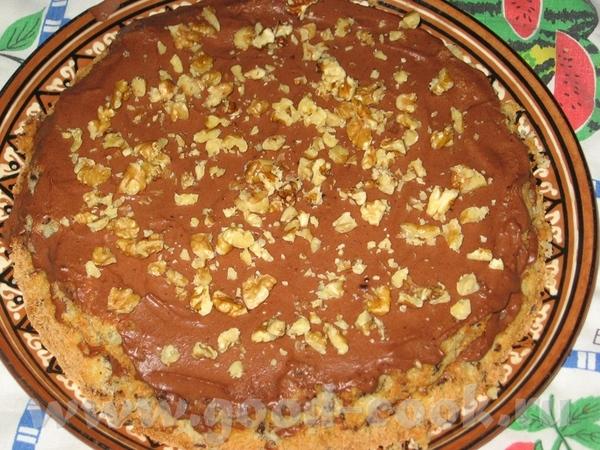 Кокосово-шоколадный торт 6 яиц, разделить на желтки и белки 1 стакан сахара 100 гр горького натерто... - 2