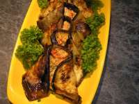 """Сегодня на обед готовила: 1-пельмени в горшочках 2- салат """" Адаз """" На ужин: баклажаны фаршированные..."""