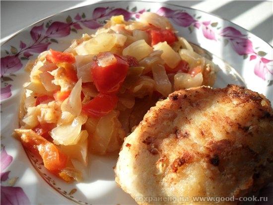 Овощи тушеные капуста 1/3 качана болгарский перец 1 шт - 2