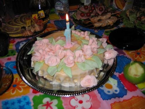 Очень стыдно было такую кривульку дарить, но имеиница была рада Это мой самый первый торт с мармышк... - 2