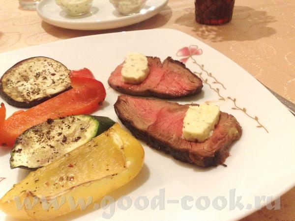 Баранья лопатка на грилле с ароматизированными горчичным и анчоусным сливочными маслами- рецепты от...
