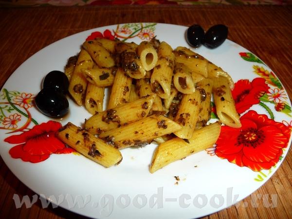 Паста с оливками и сыром 200 гр пасты щепотка куркумы 10 шт оливок сыр (2 кусочка как на будерброд...