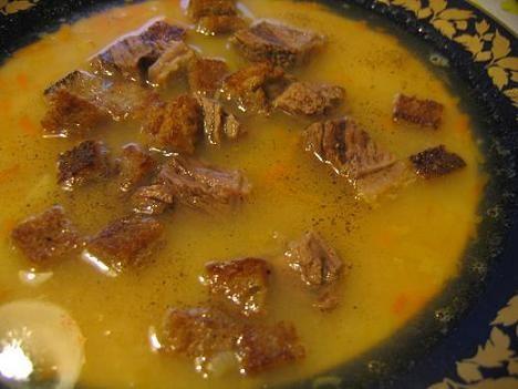 """А у нас вчера на обед был гороховый суп с копчёностями и греночками и """"Закуска из баклажан"""" от Лаур..."""