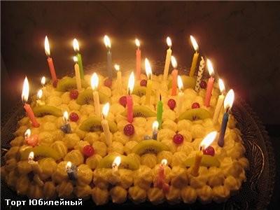 Рецепт торта Юбилейный Для бисквита 6 яиц 1 стакан муки 1 стакан сахара мелкого 1 пакетик ванильног...