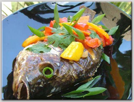 рыба с кисло-сладкими овощами ( тайская кухня )