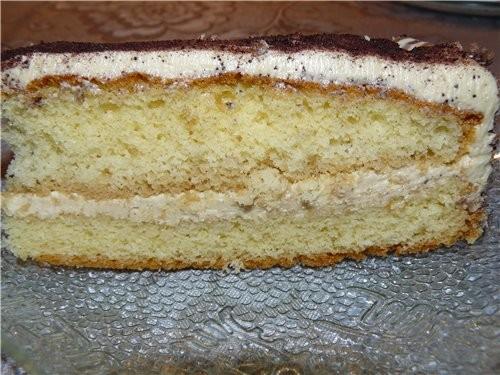 Торт «Кофейно-лимонный» Для теста: 4 яйца125 г сахара 4 ст - 2
