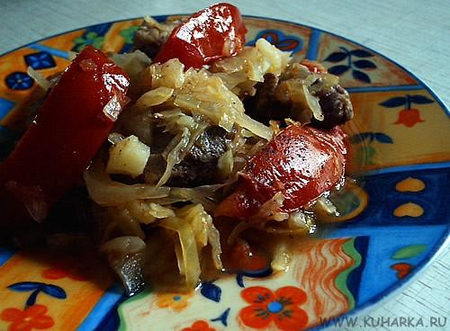 А у нас сегодня была капуста с помидорами и мясом А еще себе я делала грог