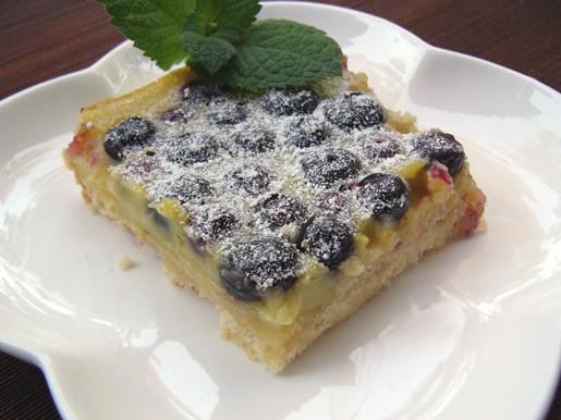 Пирог с ревенем и клубникой Лимонно-лаймовые квадратики с черникой Пирог с черникой к кофе от Джене... - 2