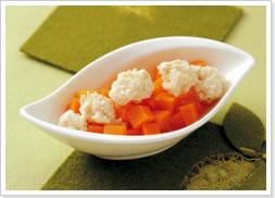 На пару Шпинатно-хлебный пудинг и морковка с куриными тефтельками Как делать - 2