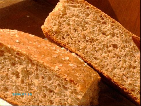 Девочки, вот мой хлеб из цельнозерновой муки