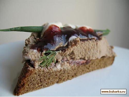 Сливочный паштет бутерброды с ветчиной и сезонными фруктами