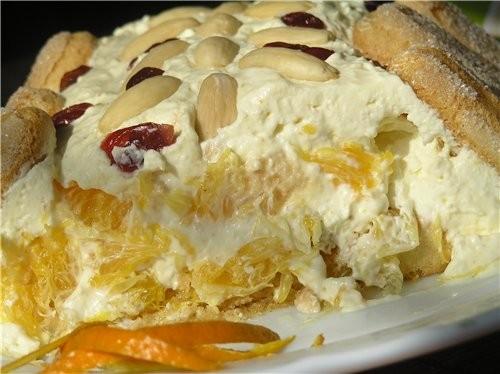 Очень вкусный десерт Тосканский творожный десерт с апельсинами