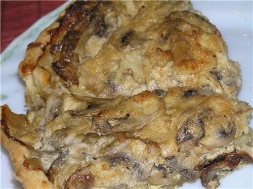 Грибной пирог с пармезаном