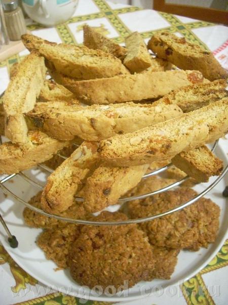Овсяное печенье с сушёной вишней Рассыпчатые бискотти с орехами - 2