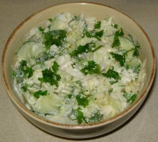 Ну вот и мой гороховый супчык С капустным салатом - 2