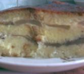 А я вот так сделала шарлотку 1 батон 5 яблок 5 яиц 0,5 л молока (можно больше) 3 ст - 2