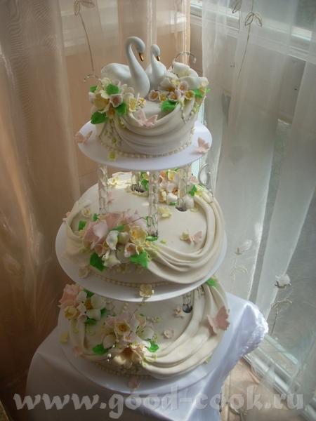 Савдебный тортик с лебедями - 2